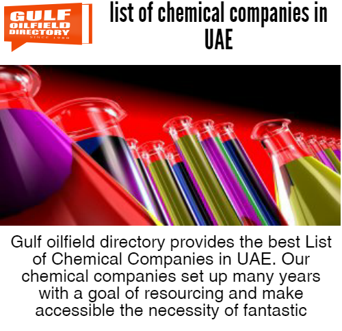 Find the best list of chemical companies in UAE
